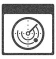 Radar Calendar Page Grainy Texture Icon vector image vector image