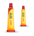 realistic glue tube bottle mockup set vector image vector image