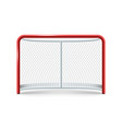 realistic hockey gates icon on the white vector image vector image