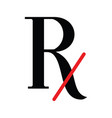 rx icon vector image