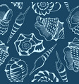sea shell design - seamless pattern vector image
