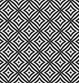 Seamless monochrome curved rectangle pattern vector image vector image