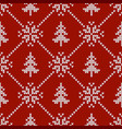 seamless pattern with snowflakes and christmas vector image