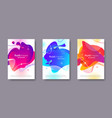 set banners with abstract modern fluid shapes vector image vector image