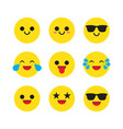 set emoticons emoji vector image