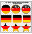 set of banners with flag of germany vector image