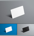 set of mock-ups for a bank and gift card isolated vector image vector image