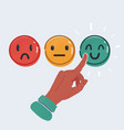 smile emoticons isolated vector image vector image