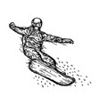 snowboarder jumping through air vector image vector image