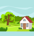 spring countryside landscape vector image