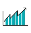 statistical growth isolated icon design vector image vector image