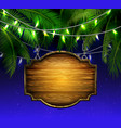 summer wooden sign on tropical beach background vector image vector image