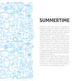 summertime line pattern concept vector image