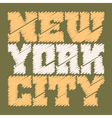 T shirt typography graphics New York drawn green vector image vector image