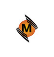 technology letter m vector image