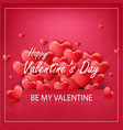 valentines day on red backg vector image vector image