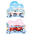 vehicles disinfectant services for covid19 19 vector image vector image