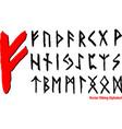 viking alphabet vector image