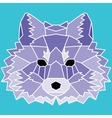 Violet low poly lined fox vector image vector image