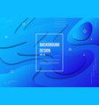 wavy geometric with fluid design background vector image vector image