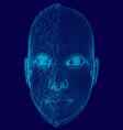 wireframe head girls half broken polygonal human vector image vector image
