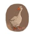 Goose Retro style vector image