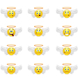 Angels smilies vector image