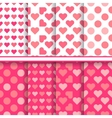 set of seamless romantic love patterns vector image