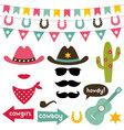 Cowboy design elements set vector image