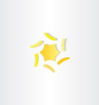 abstract yellow star icon logo element vector image