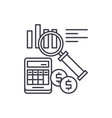 accounting line icon concept accounting vector image vector image
