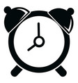 alarm clock icon simple black style vector image vector image
