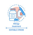allergy treatment concept icon vaccination vector image vector image