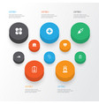 antibiotic icons set collection of plus rhythm vector image