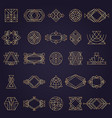 art deco elements geometrical linear shapes for vector image