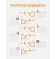 Auto gasoline service time line infographics vector image vector image