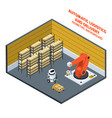 automatic logistics and delivery isometric vector image vector image