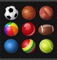balls - modern realistic isolated clip art vector image