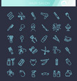 barbershop and beauty salon icons set vector image vector image
