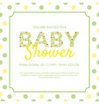 bashower invitation card template with flowers vector image