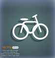 Bicycle bike icon On the blue-green abstract vector image