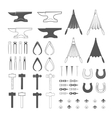 Blacksmith tools vector image