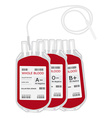 Blood bag vector image vector image