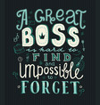 boss day lettering vector image vector image