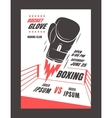 Boxing championship poster vector image
