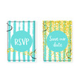 bridal shower set with dots and sequins wedding vector image vector image