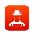 builder icon digital red vector image vector image