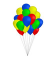 bundle of colorful balloons isolated on white vector image