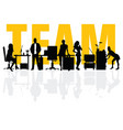 business team people silhouette vector image vector image
