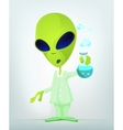 Cartoon Science Alien vector image vector image
